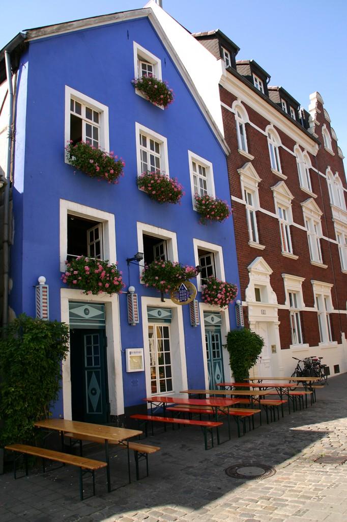 Eingang - Das Blaue Haus Münster