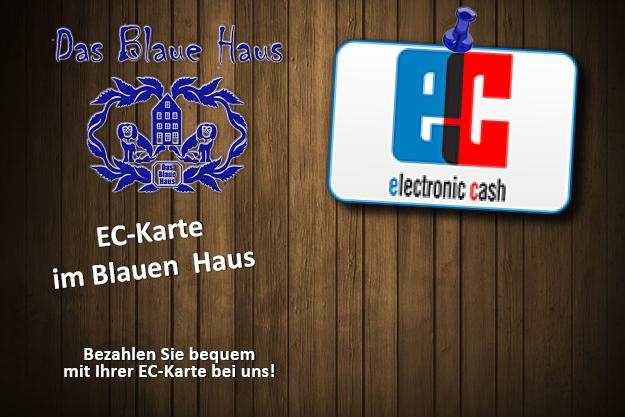 EC-Karte im Blauen Haus