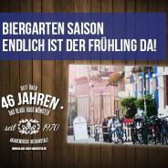 Biergarten – Frühling im Blauen Haus