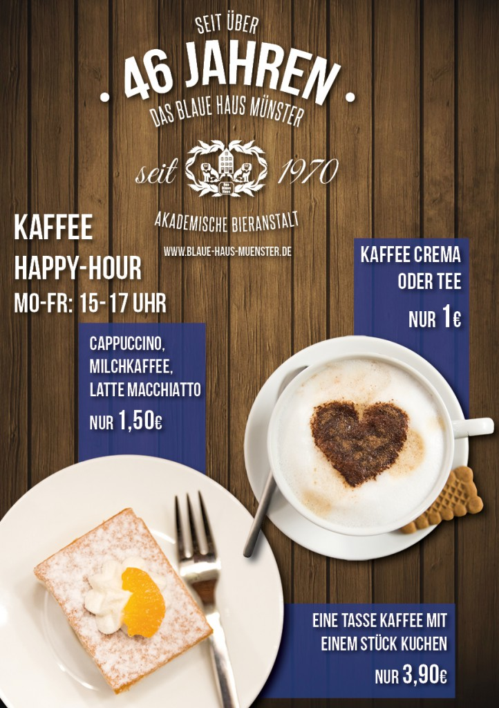 Flyer Kaffee Happy-Hour