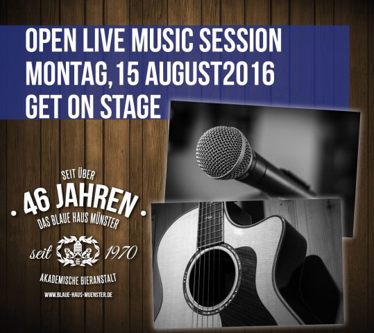 Open Live Music Session im Blauen Haus