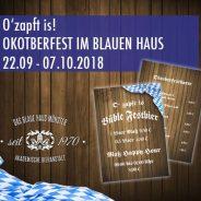 O´zapft is! Oktoberfest im Blauen Haus!
